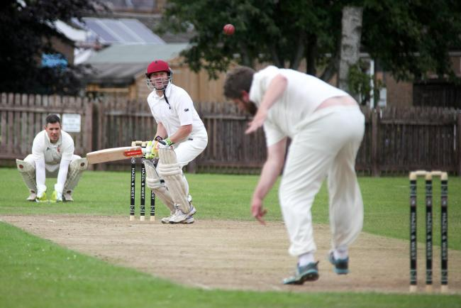 Guilsfield CC v Cound II's CC..Pic is. Guilsfield's batsman, Andy Pugh..