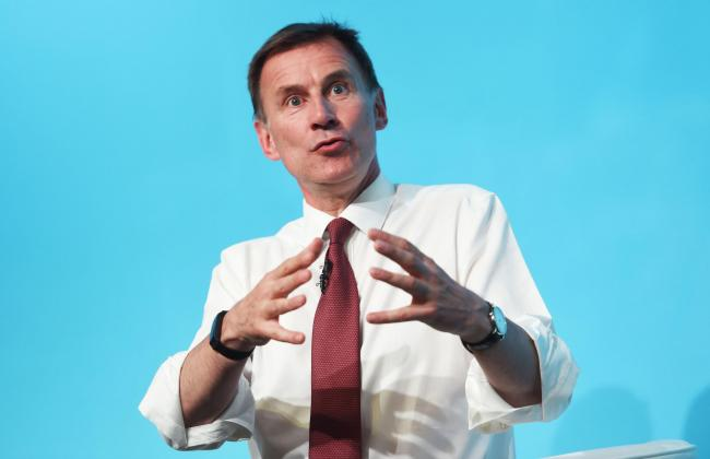Conservative party leadership contender Jeremy Hunt during a Tory leadership hustings at the All Nations Centre in Cardiff. Picture: David Mirzoeff/PA Wire