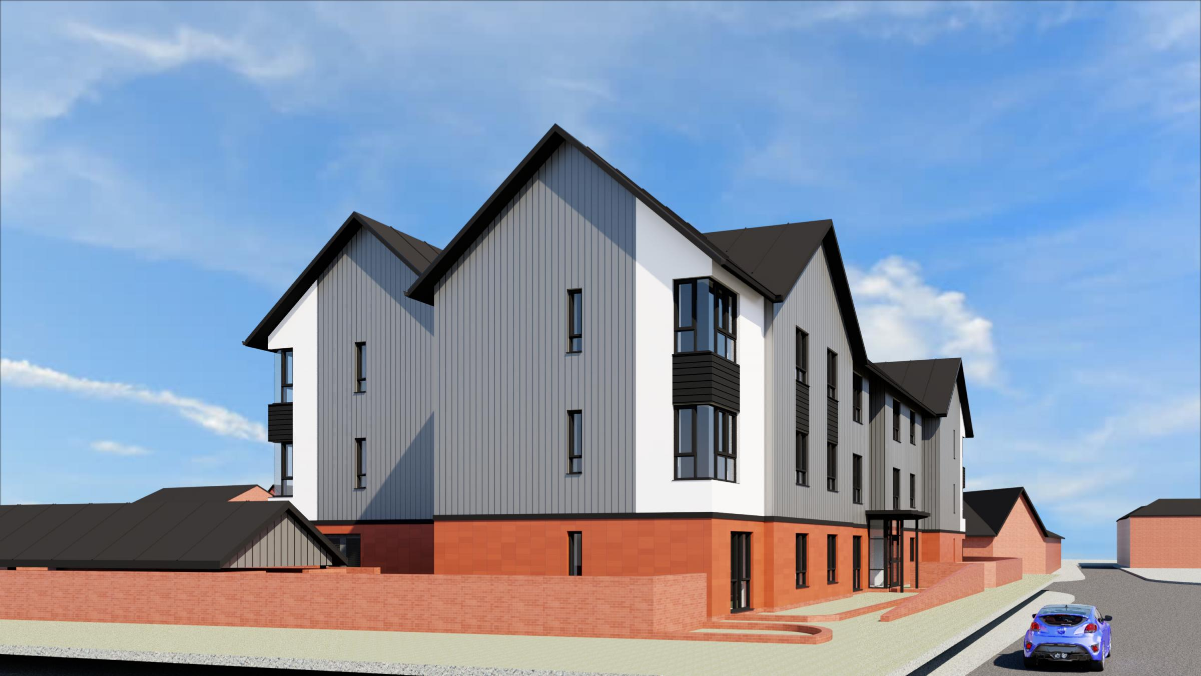 Newtown social housing delayed after building firm goes into administration