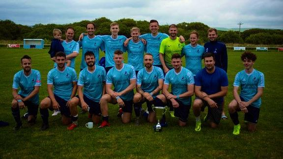 Borth United won the Borth Summer Cup. Picture by Emily Janine Photography.