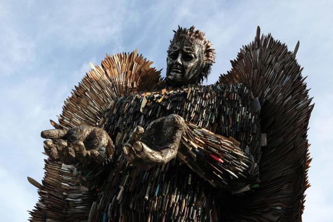 The knife Angel. Picture: Chris Booth