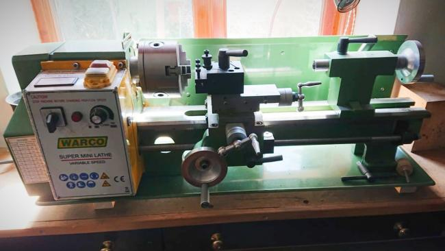 A Warco Super mini lathe was stolen from a property in Llanfyllin sometime between August 3 and 5. Picture: @DPPLlanfyllin