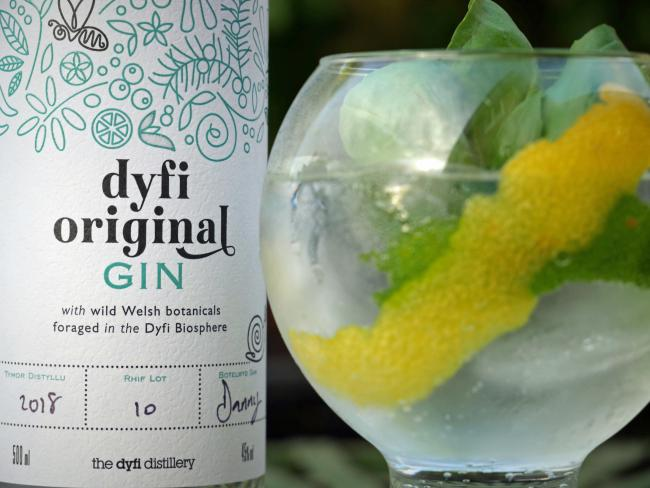 Dyfi Original Gin, shortlisted for Best British Gin for second consecutive year.