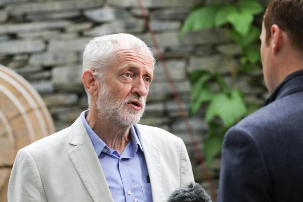 Jeremy Corbyn is interviewed at CAT. (PB384-6)