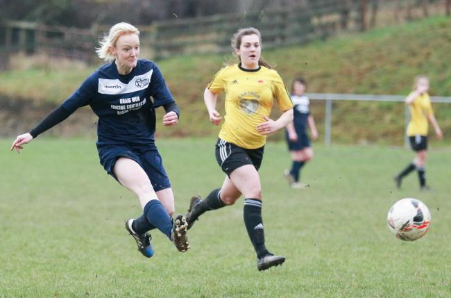 Llanfair United Ladies v Prestatyn Ladies in the NEWFA Cup..Pictured is Gemma Jones..Picture by Phil Blagg..PB031-2019-12.