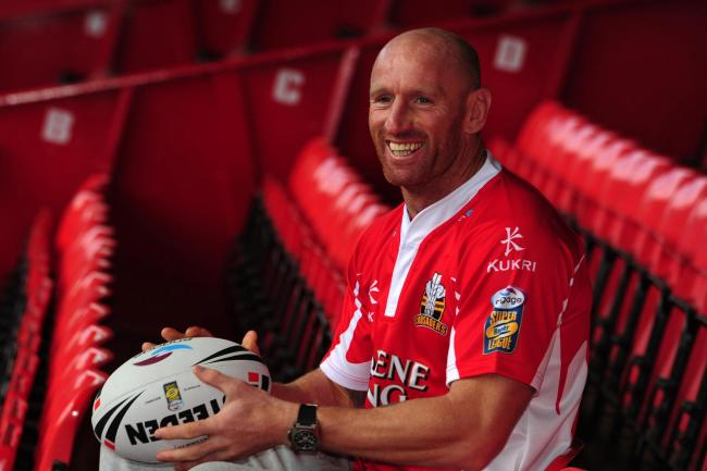 Gareth Thomas pictured during his time with Wrexham-based Crusaders