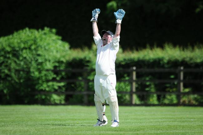 Bishops Castle Wicket keeper Tom Moulder appeals for an LBW during the Henshalls league Division Two fixture between Bishops Castle and Montgomery on Saturday, July 2, 2018...Pic: Mike Sheridan/Couny Times.MS125-2018.