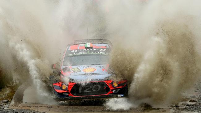 Ireland's Craig Breen battles the day three Wales Rally GB circuit. Picture: Bradley Collyer/PA Wire