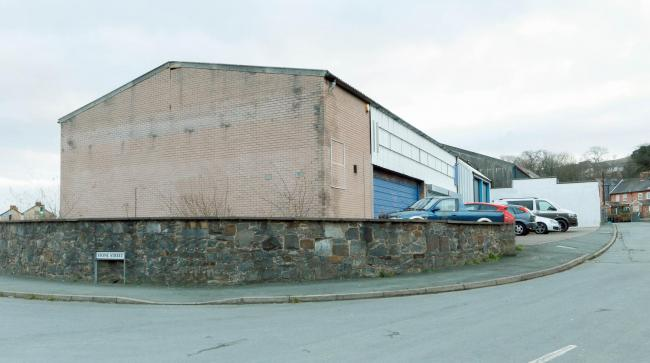 The converted former garage at Stone Street, Newtown, which was used to grow cannabis. Picture: County Times