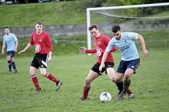 Ryan Edwards netted for Penparcau. Picture by Chris Howells.