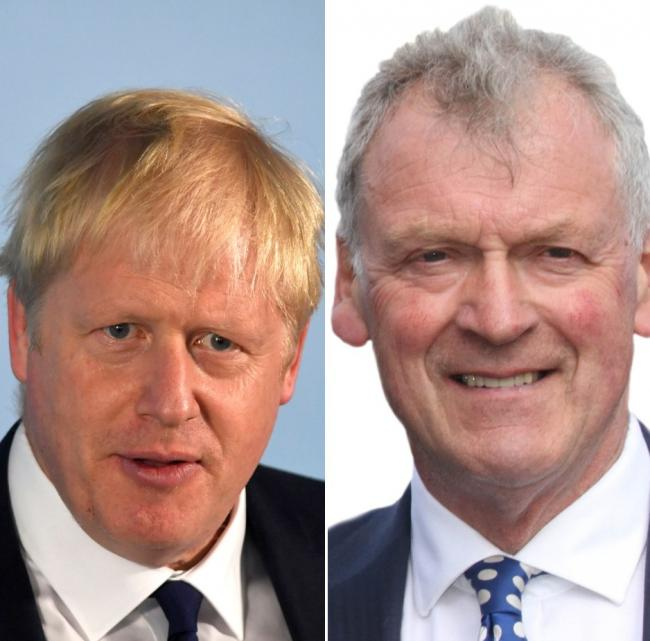 Prime Minister Boris Johnson and Montgomeryshire MP Glyn Davies.