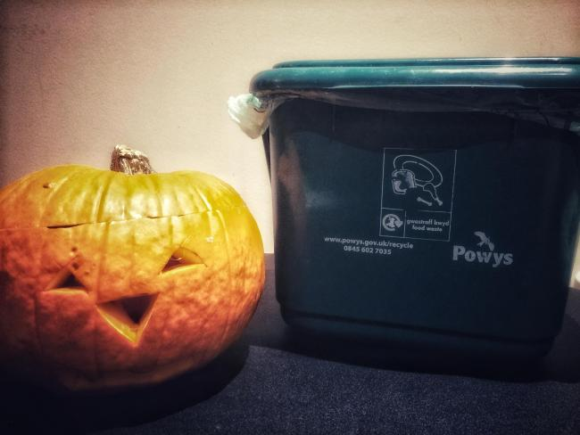 Powys County Council wants residents to put their used pumpkins in their food waste bins.