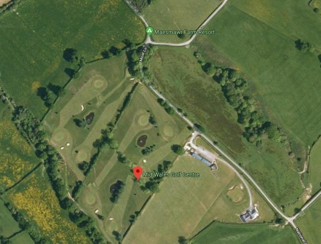 Mid Wales Golf Centre   Aerial Shot