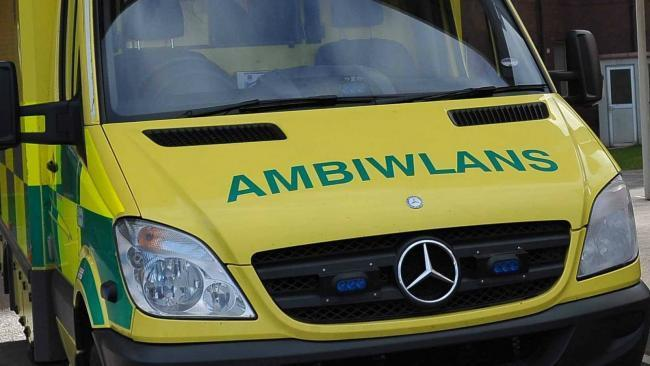 Welsh ambulance.