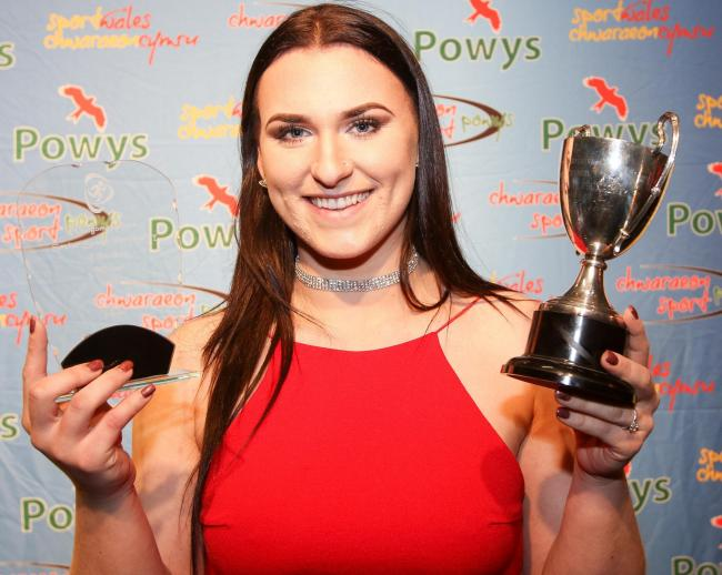 PB039-2017-84Montgomeryshire Sports Awards 2017 at Theatre Hafren, Newtownpictured is Adele Nicoll winner of the Senior Sports Personality of the year Picture by Phil BlaggPB039-2017-84