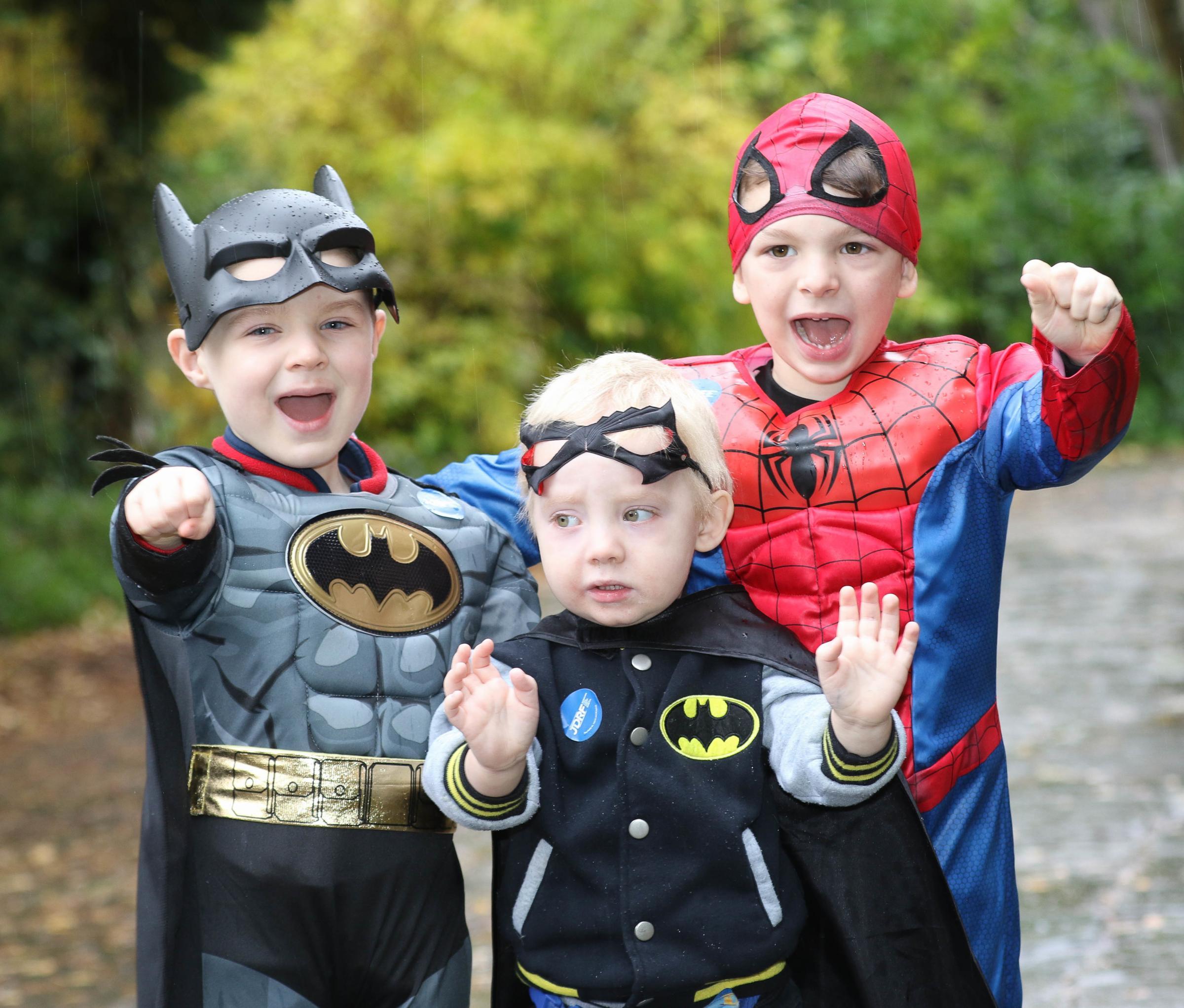 Little Super Heroes from Welshpool nursery rally for charity to help friend Kellan