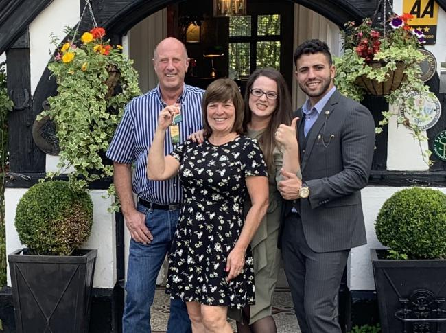 The Southwick family, new owners of Caer Beris Manor Hotel, at Builth Wells.