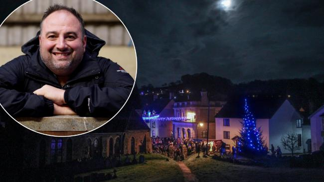 BBC Radio Wales star Wynne Evans will be kicking off the station's Christmas coverage live in Llanfair Caereinion.