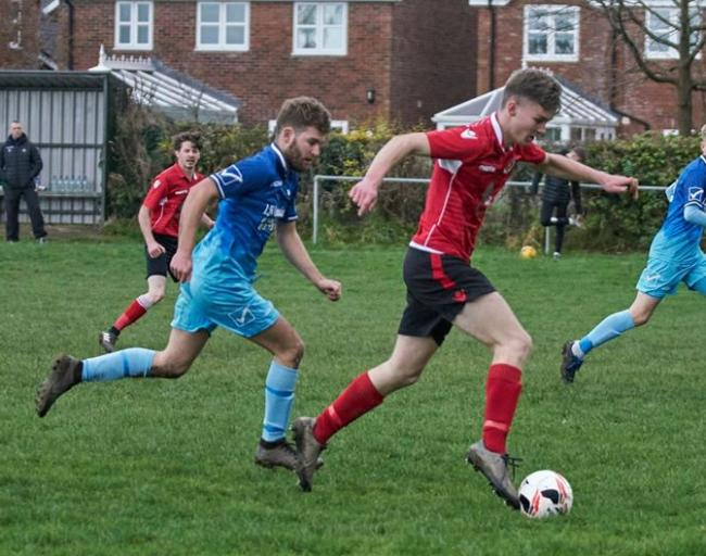 Action from Abermule's clash with Borth United. Picture by Ian Francis.