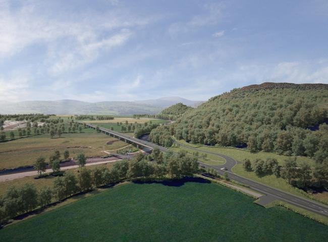 An artist's impression for the Dyfi Bridge
