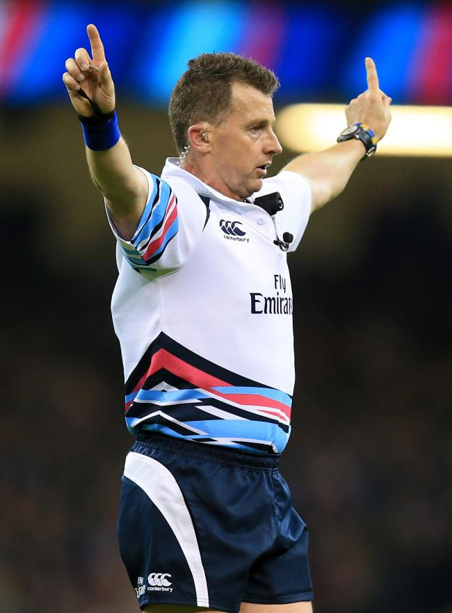 Referee Nigel Owens during the Rugby World Cup game at The Millennium Stadium, Cardiff. PRESS ASSOCIATION Photo. Picture date: Saturday October 17, 2015. See PA story RUGBYU New Zealand. Photo credit should read: Mike Egerton/PA Wire. RESTRICTIONS: Editor