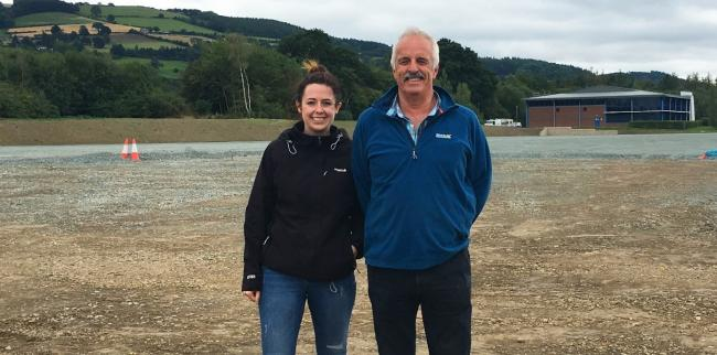 Rebecca Lloyd, Managing Director of Charlies Stores, with Chris Lloyd, founder, at the new warehouse site  of Charlies Stores, on the site of the purpose-built 108,000 sq ft warehouse and office complex completed in 2018.