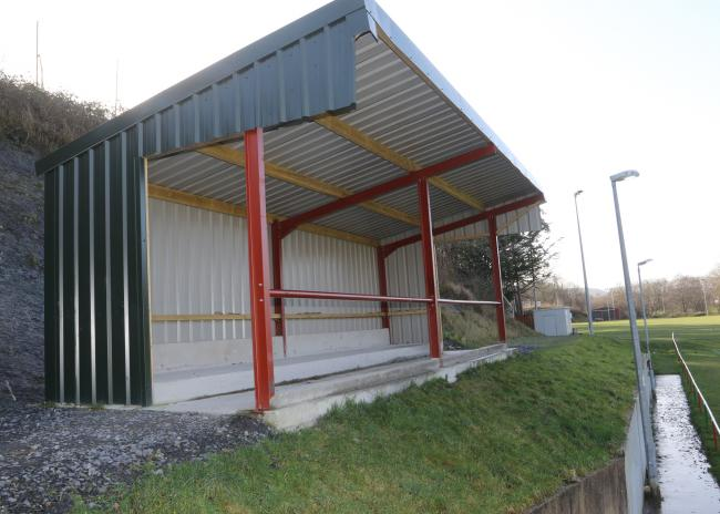 The new stand at Newtown Rugby Club.Picture by Phil Blagg..PB008-2020-9.
