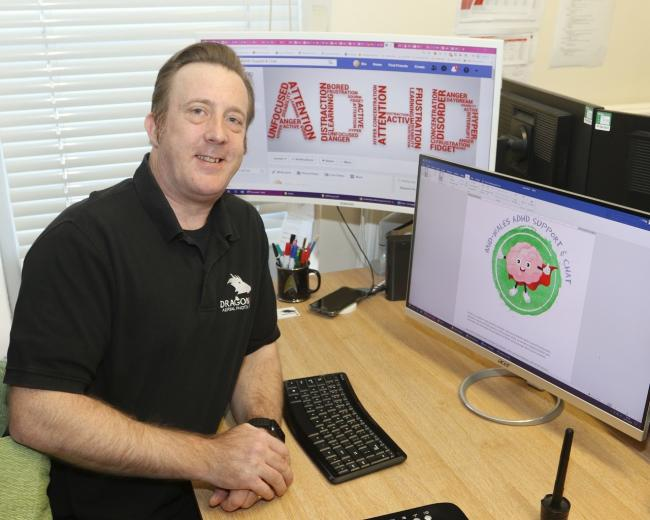 Newtown man Stuart Trigg is reaching out to help others with ADHD. Picture by Phil Blagg.