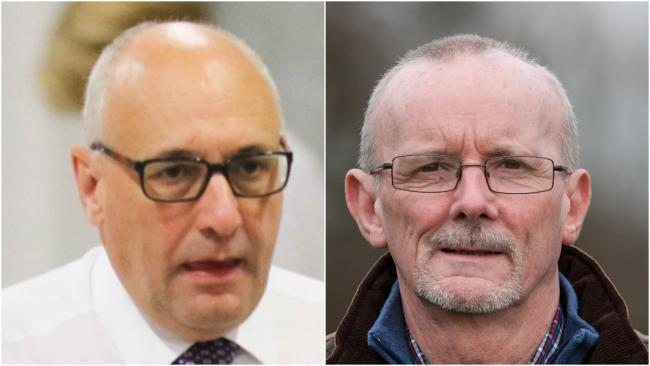 Clive Pinney (left) and Cllr Graham Breeze who have defended the scrutiny cuts proposed at Powys County Council.