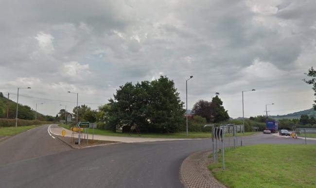 The site of the proposed new restaurant on the Buttington Cross Roundabout, near Welshpool. Picture: Google Street View