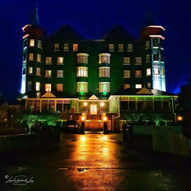 "This night-time view of The Metropole in Llandrindod Wells was sent in by Laura Shepherd, who described it as ""such a unique Victorian building""."