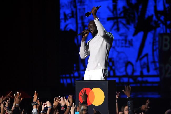 Stormzy performs at the Brit Awards