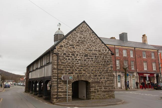A general view of the Old Market Hall, Llanidloes.Pic: Mike Sheridan/County Times
