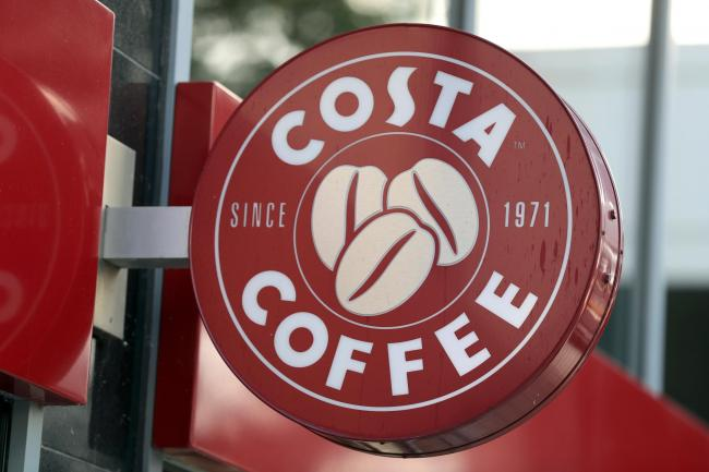 A Costa Coffee sign