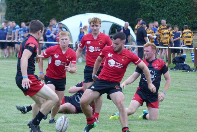 Action from the Sion Wyn Sevens in Machynlleth.  Picture by Gary Williams.