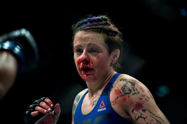 Joanne Calderwood suffered defeat to Jennifer Maia in her first bout in nearly a year