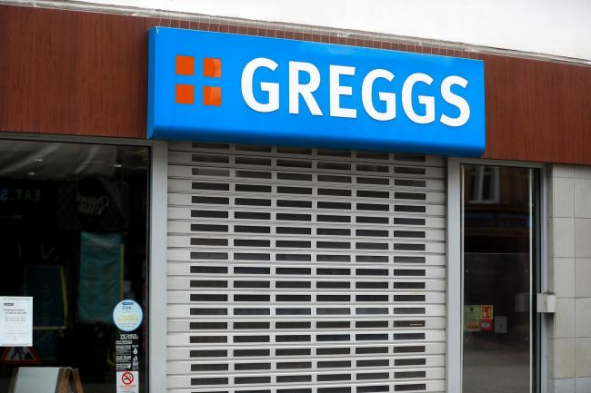 File photo dated 31/03/20 of a closed Greggs outlet in Sheffield city centre. Bakery chain Greggs hopes to open around 800 of its stores in the middle of next month. PA Photo. Issue date: Tuesday May 26, 2020. The pasty and sausage roll outlets are expect