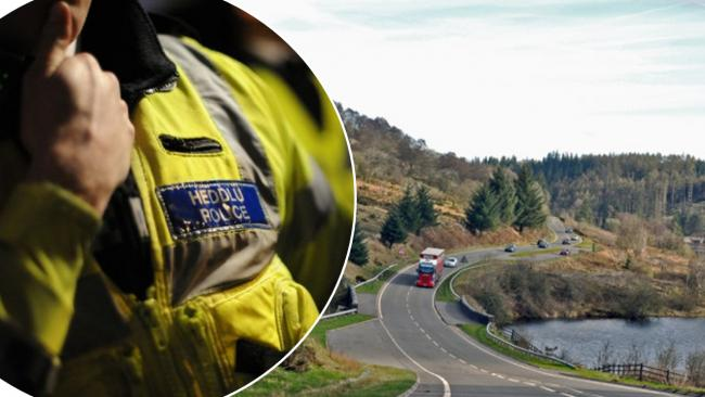 Police were called to Cantref Reservoir near the A470 following reports of a suspected Second World War bomb. Picture: Mick Lobb/Dyfed-Powys Police.