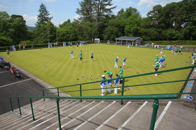 A general view of Llandrindod Wells Bowling Club during the British Isles Women Bowls Council competition at Llandrindod Wells on Monday, June 19, 2017.  Pic: Mike Sheridan/County Times MS546-2017