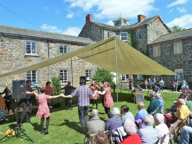 Dawnswyr Tanat perform at the opening of Llanfyllin Workhouse History Centre