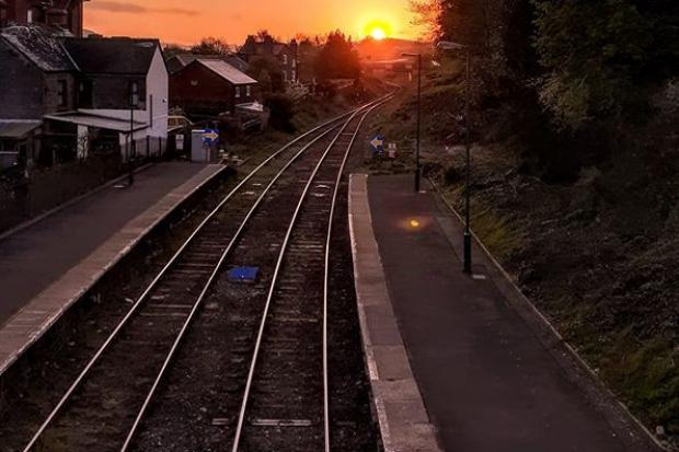 John Finn took this sunrise shot on his early morning walk at Newtown railway station.