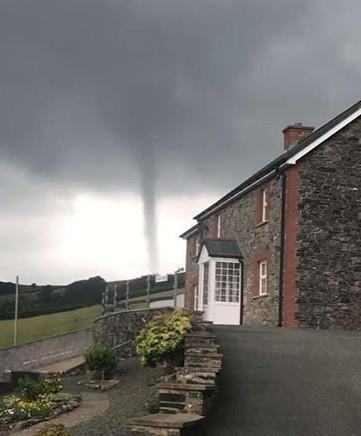 The tornado spotted in Powys