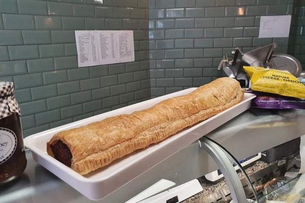 AJ Pugh Butchers in Knighton has created the UK's biggest sausage roll