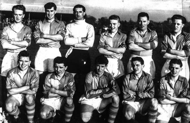 Llanidloes Town Football Club pictured in 1955.