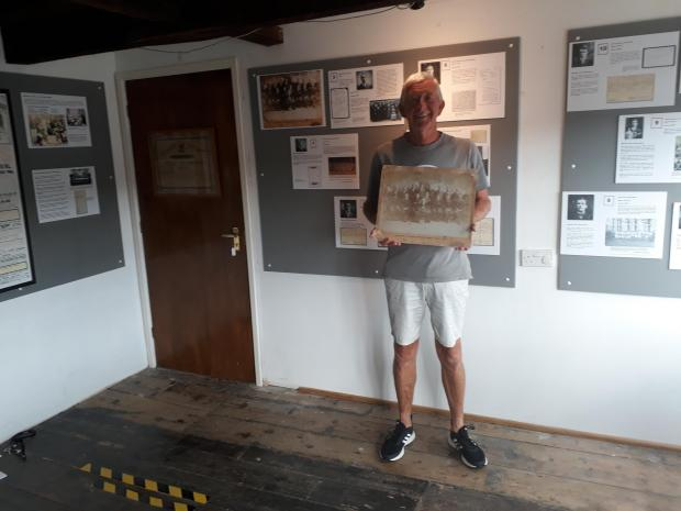 County Times: Museum committee member John Evans at the Newtown Textile Museum exhibition.