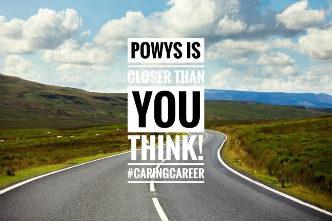 Powys Children\'s Services Recruitment Campaign poster - from Powys County Council