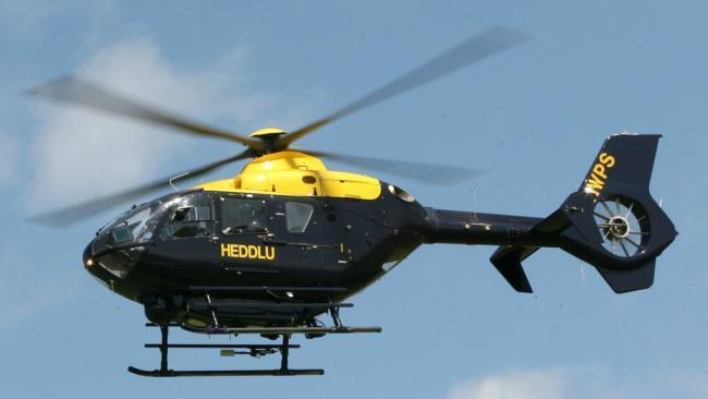 A Welsh police helicopter.