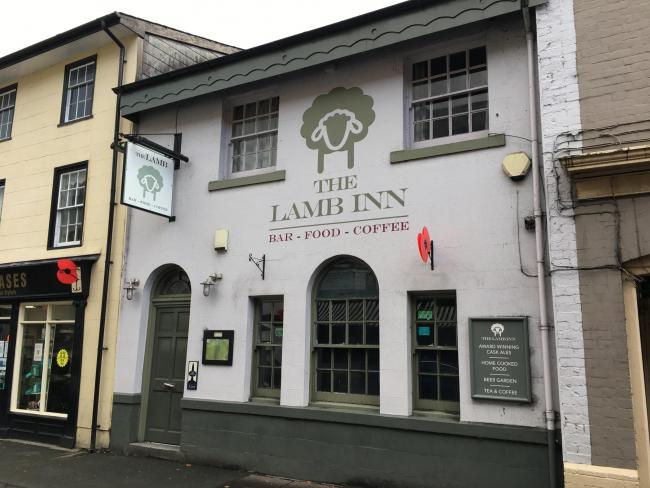 The Lamb Inn which Walter Evans ran in Builth Wells.