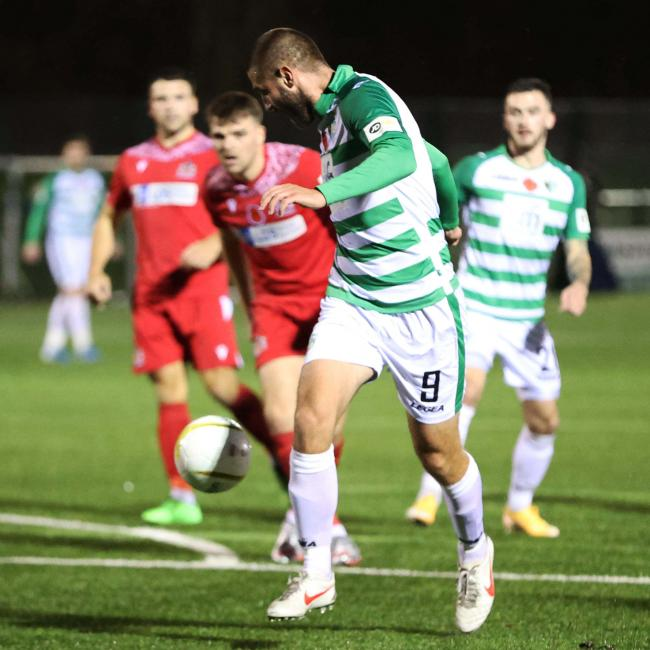 Greg Draper, TNS's match winner in Saturday's victory. Picture by Brian Jones.