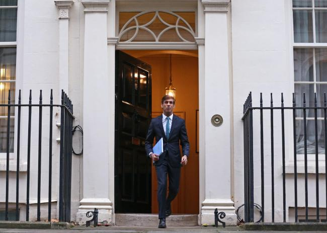 Chancellor of the Exchequer Rishi Sunak leaves 11 Downing Street, London, ahead of delivering his one-year Spending Review in the House of Commons. PA Photo. Picture date: Wednesday November 25, 2020. See PA story POLITICS Spending. Photo credit should re